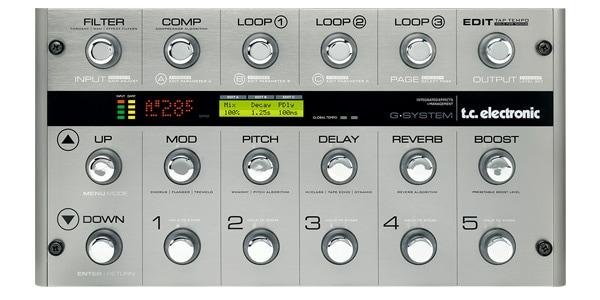 tc electronic ティーシーエレクトロニック / G-System マルチエフェクト フロアプロセッサー【ギター用マルチエフェクター】