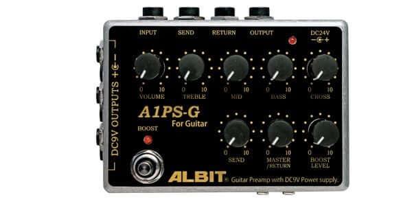 ALBIT アルビット / A1PS-G GUITAR PRE-AMP with DC9V POWER SUPPLY【プリアンプ】【パワーサプライ】