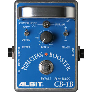 ALBIT アルビット / CB-1B PURE CLEAN BOOSTER FOR BASS【ベース用ブースター】