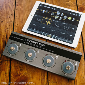 Positive Grid ポジティブグリッド / BT-4 BLUETOOTH MIDI PEDAL【Bluetooth MIDI フット・コントローラー】