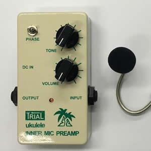 TRIAL トライアル / INNER MIC PREAMP for ukulele【ウクレレ用プリアンプ】