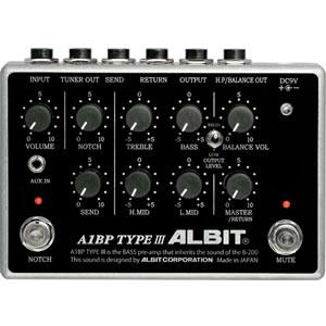 ALBIT アルビット / A1BP TYPE III【ベース用プリアンプ】