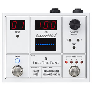 Free The Tone フリーザトーン / PA-1QB PROGRAMMABLE ANALOG 10 BAND【ベース用 イコライザー】