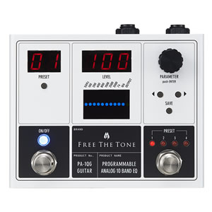 Free The Tone フリーザトーン / PA-1QG PROGRAMMABLE ANALOG 10 BAND EQ【ギター用イコライザー】