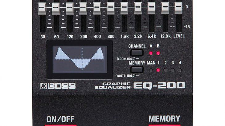 BOSS ボス / EQ-200 Graphic Equalizer【グラフィックイコライザー】【BOSS 200シリーズ】