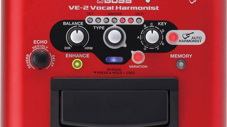 BOSS ボス / VE-2 Vocal Harmonist ボーカル用エフェクター】