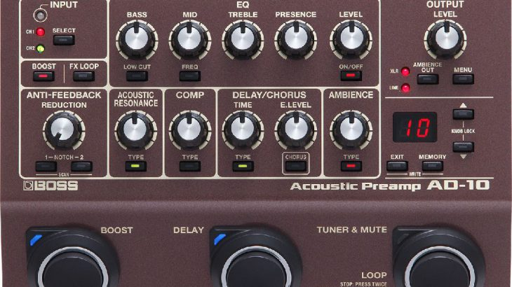 BOSS ボス / AD-10 Acoustic Preamp【アコースティックギター用エフェクター】