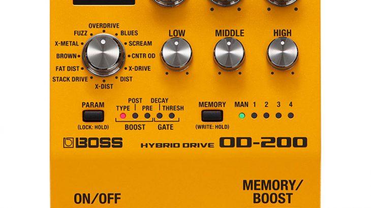 BOSS ボス / OD-200 Hybrid Drive 【オーバードライブ】【BOSS 200シリーズ】