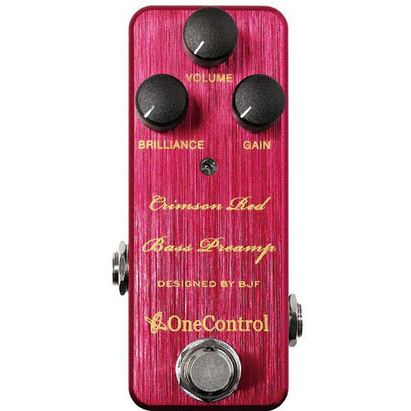 One Control ワンコントロール / Crimson Red Bass Preamp【ベース プリアンプ】