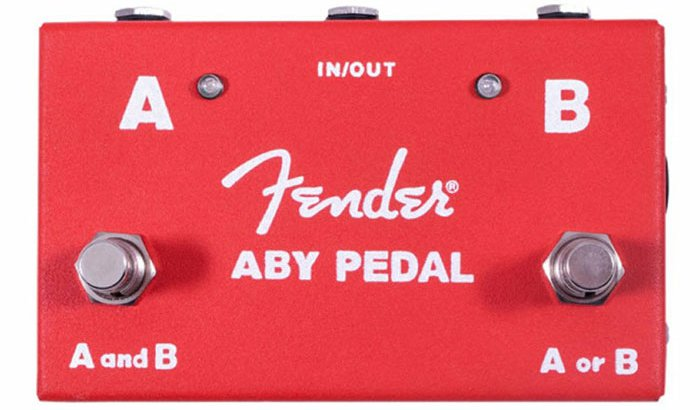 FENDER フェンダー / 2-Switch ABY Pedal Red 【ラインセレクター】