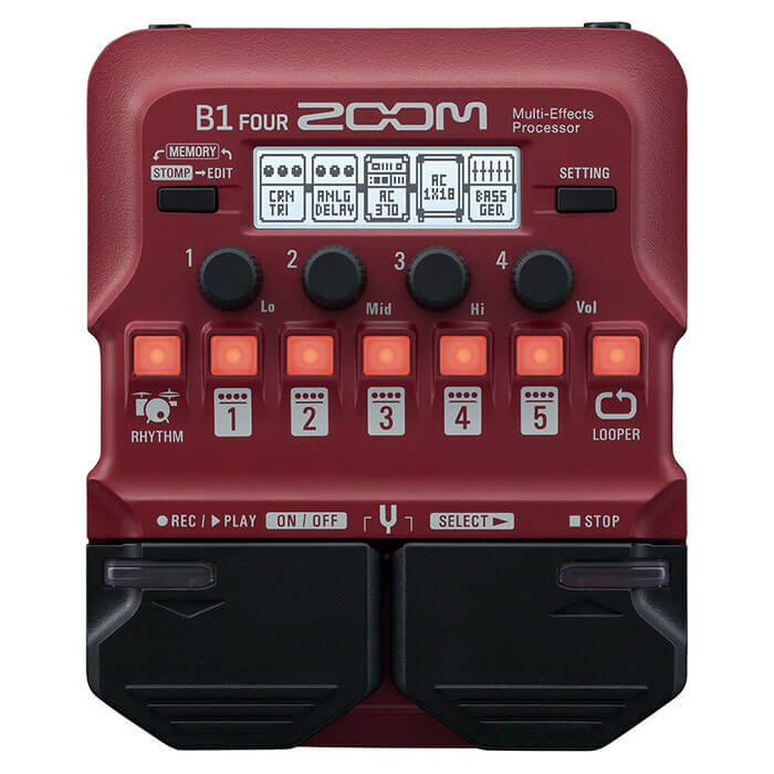 ZOOM ズーム / B1 FOUR Multi-Effects Processor【ベース用マルチエフェクター】