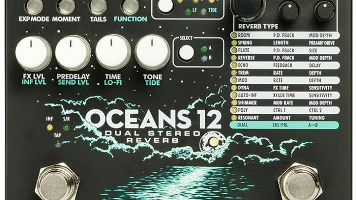Electro Harmonix エレクトロハーモニクス /  OCEANS12 [Dual Stereo Reverb]【リバーブ】