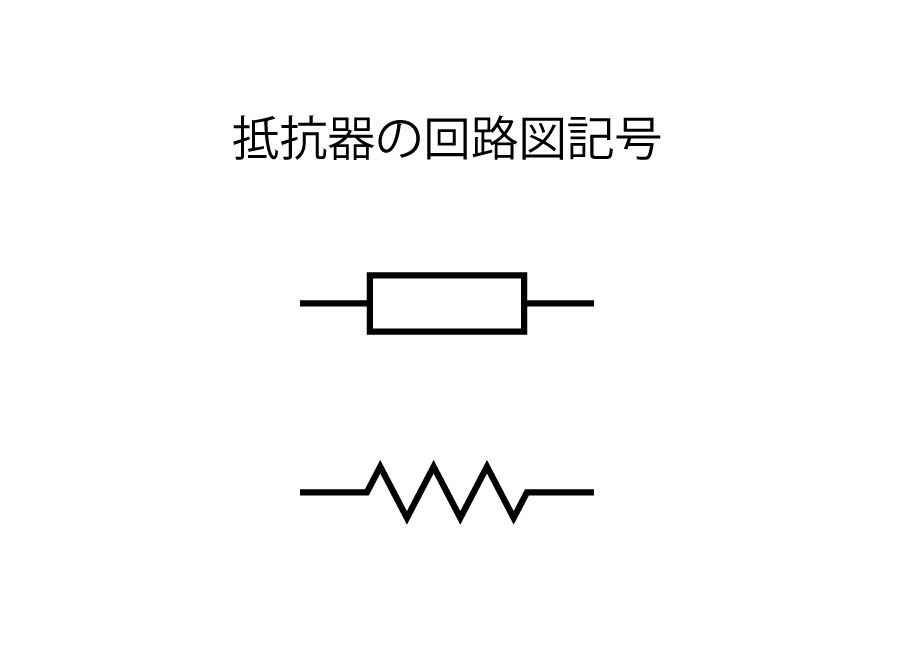抵抗器回路図記号
