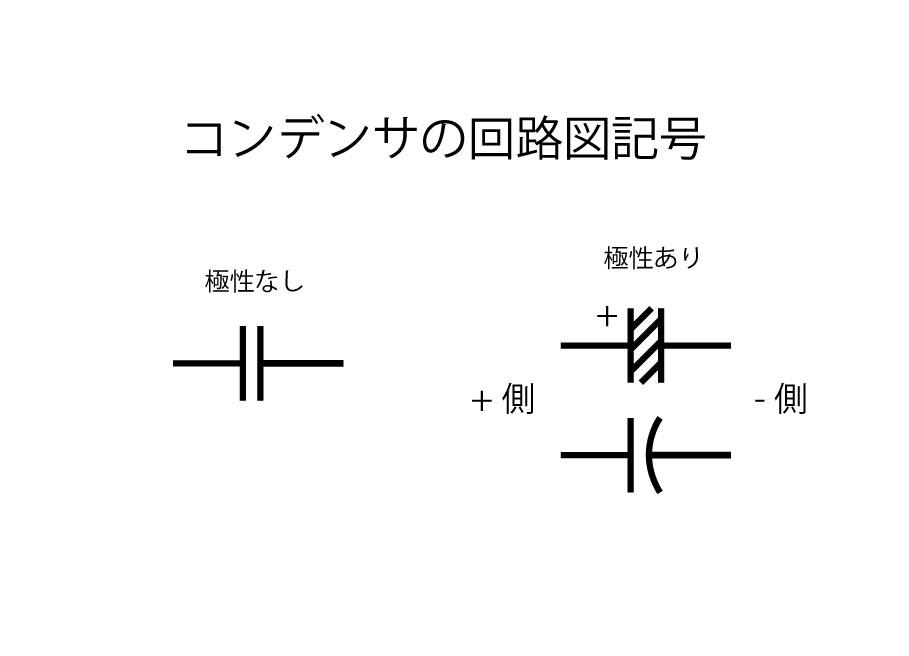 コンデンサ回路図記号