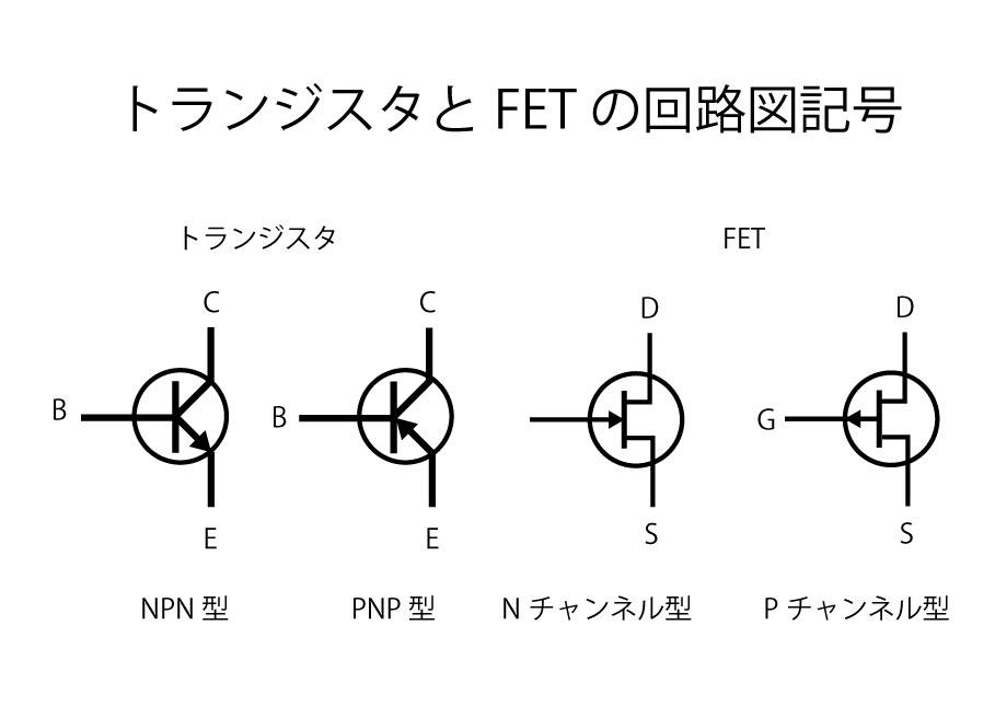トランジスタ回路図記号