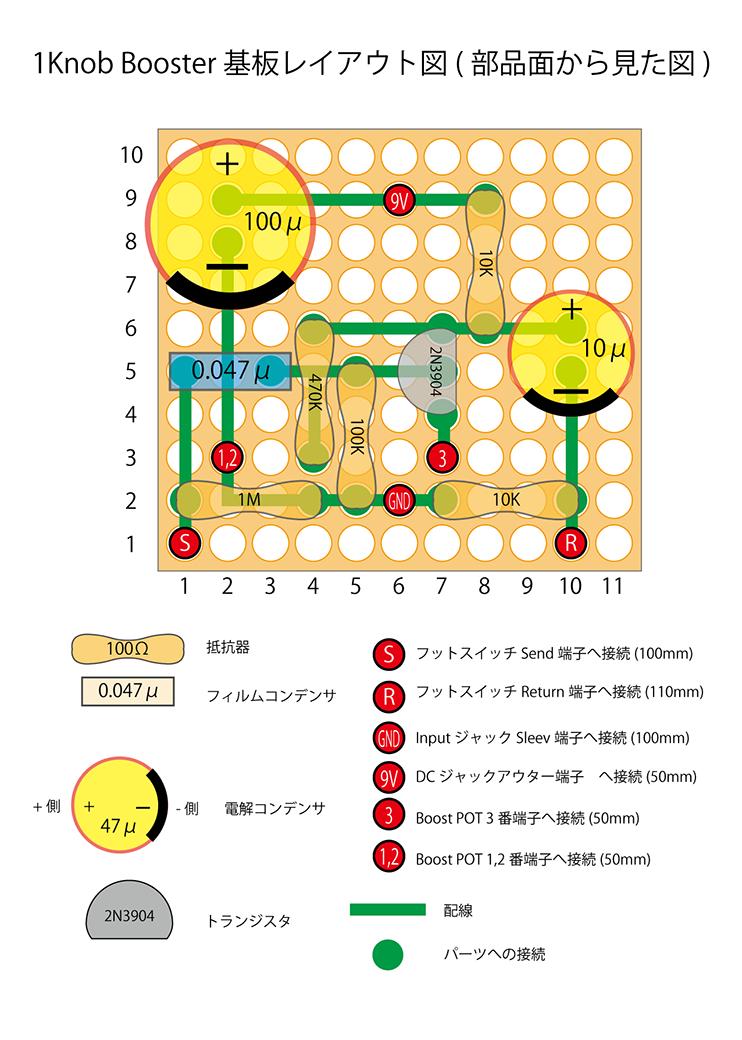 基板レイアウト(部品面)2-01