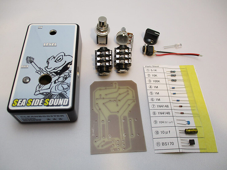 SEA SIDE SOUND / Clean booster Kit 【ブースター】【自作エフェクターキット】