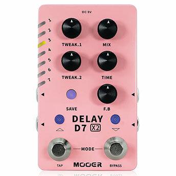MOOER ムーアー / D7 X2 DELAY 【ディレイ】【ルーパー】